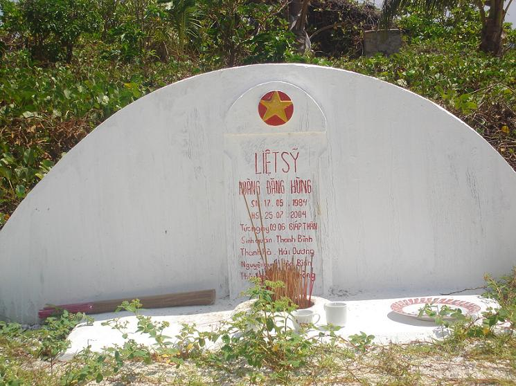 Martyr tomb on Nam Yet island