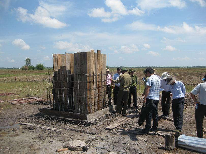 Intersectoral working delegation inspects construction of landmark in flooded area, Long An province