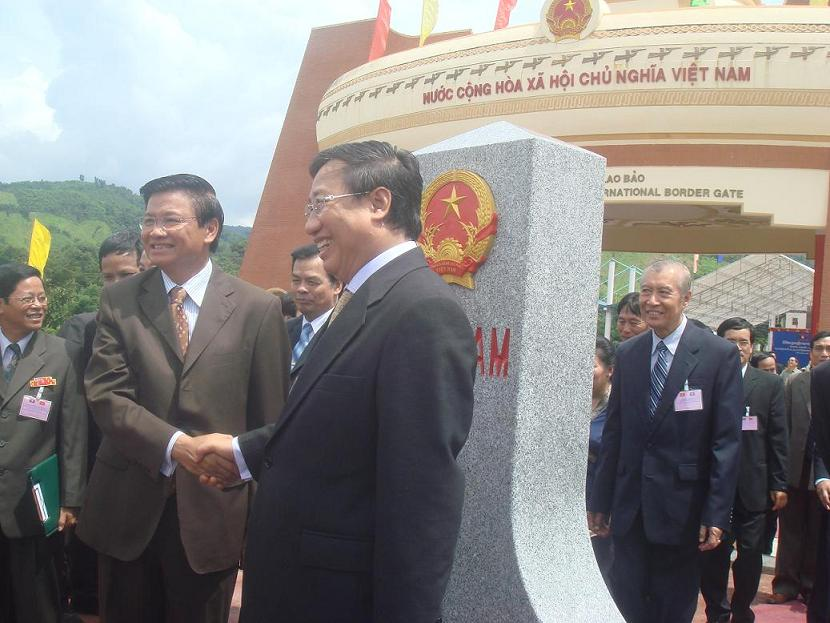 Inauguration of landmark No. 605 at Lao Bao border gate, Quang Tri, September 5th 2008